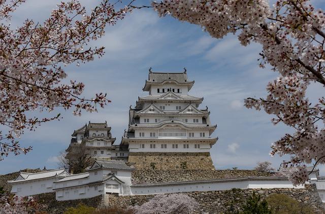 Japan, Landmark, Heritage, Himeji, White, Heron, Castle