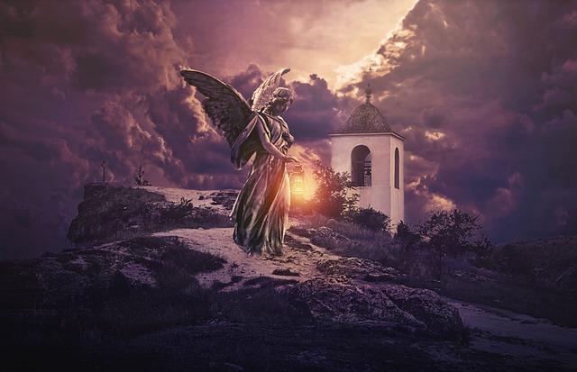 Fantasy, Gothic, Goth, Dark, Hermitage, Angel, Statue