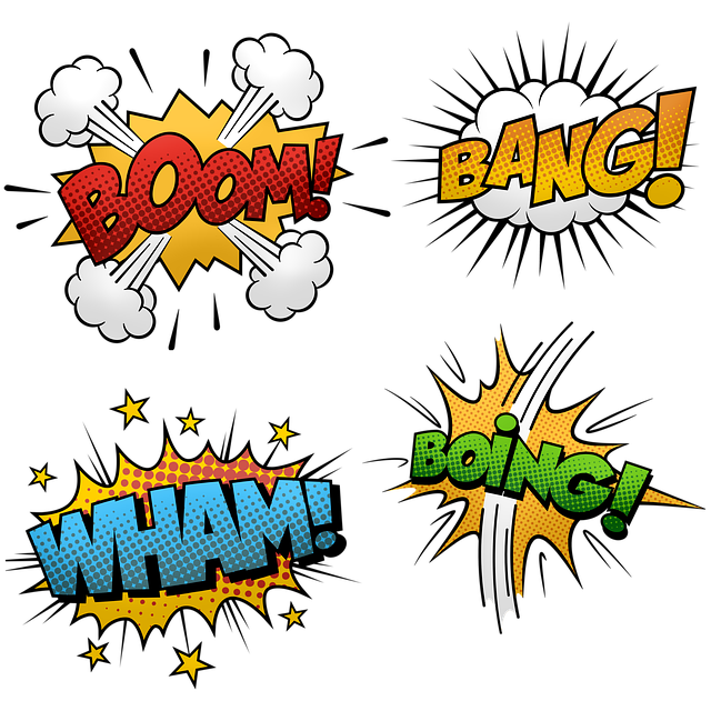 Comic Halftone, Speech Bubbles, Frame, Comic, Hero, Pow