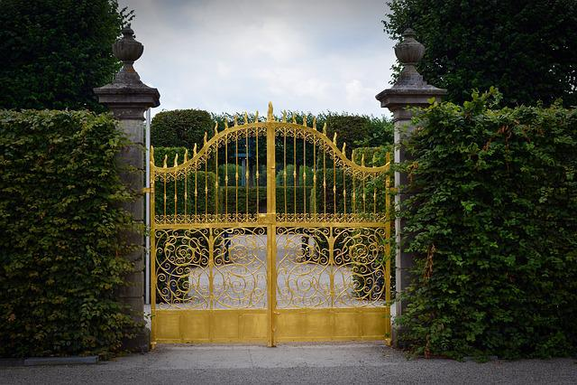 Goal, Gate, Gold, Portal, Herrenhäuser Gardens, Hanover