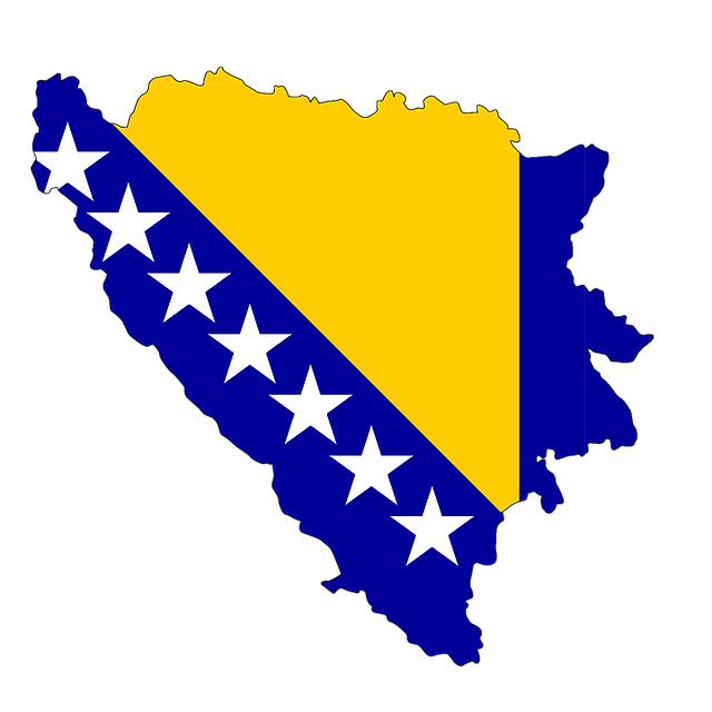 Bosnia, Herzegovina, Map, Flag, Land, Country, Borders