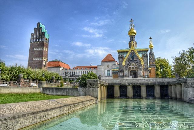 Darmstadt, Hesse, Germany, Mathildenhöhe, Art Nouveau