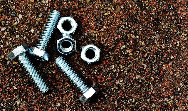 Screw, Nuts, Hex Bolt, Construction Material, Silver
