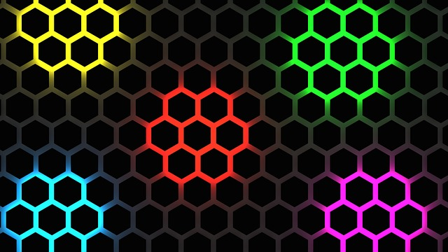 Wallpaper, Color, Symmetrical, Hexagon, Pattern