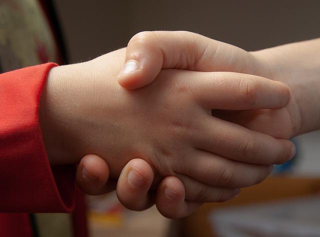 Handshake, Hi, Friendship, Hands, Children