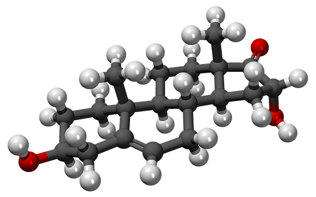 Hidroxidehidroepiandrosterona, Ed, Ball, Stick