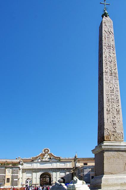 Italy, Rome, Obelisk, Place, Hieroglyphs, Architecture
