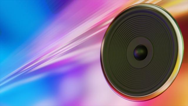 Music, Speakers, Hifi, Sound, Membrane, Colorful, 3d