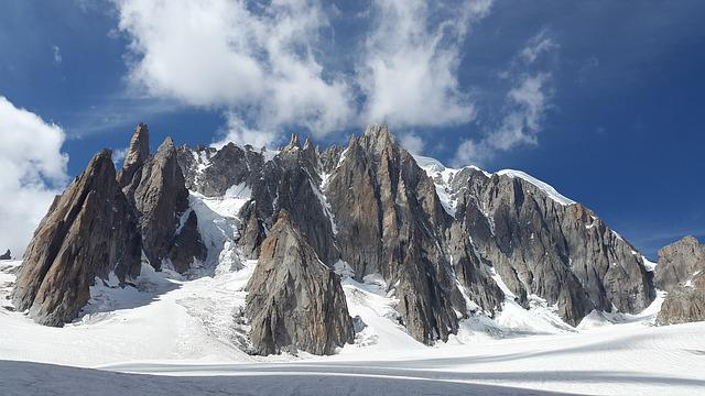 Mont Blanc Du Tacul, High Mountains, Alpine, Chamonix