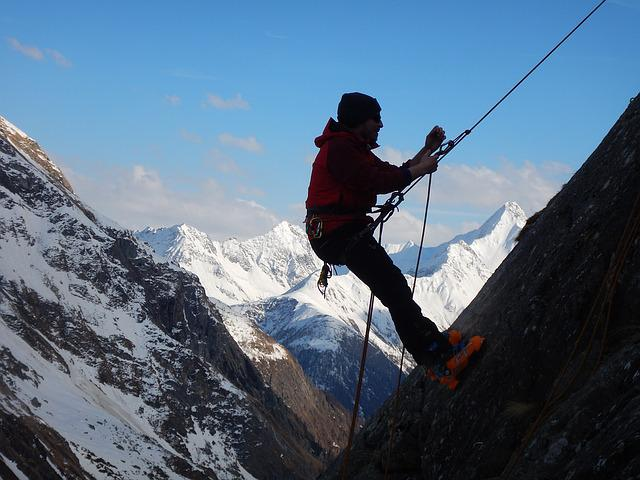 Climb, Prussik Knot, High Mountains, Prusik, Abseil