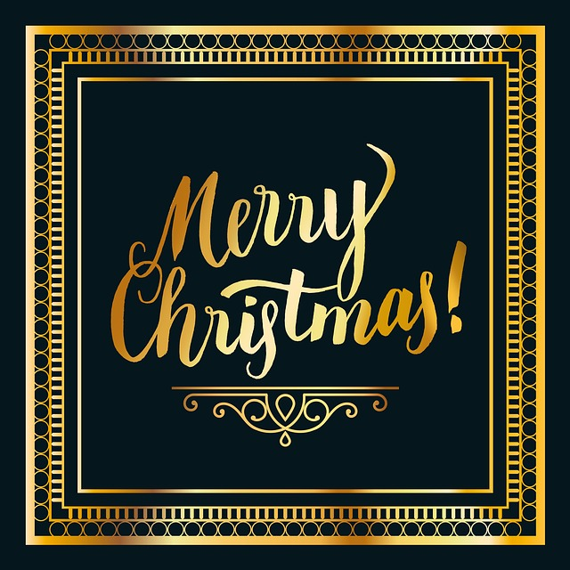 Christmas, Gold, Black, Frame, Noble, High Quality