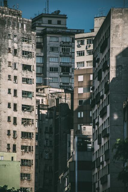 City, High Rise, Multistory Building, Concrete Building