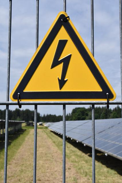 Attention, Current, High Voltage, Risk, Solar