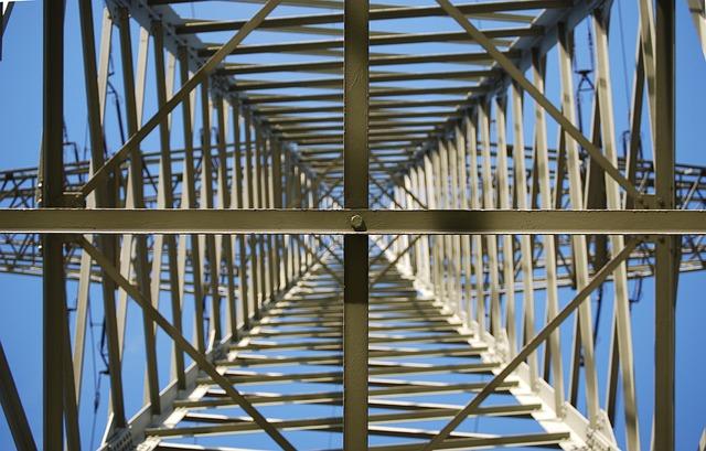 High Voltage, Strommast, Power Line, Perspective