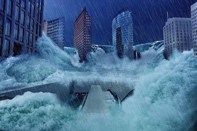 Berlin, Potsdam Place, High Water, Flood, überflutuung