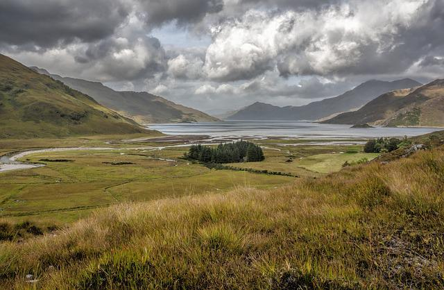 Loch Hourn, Scotland, High, Mountains, Highland, Hills