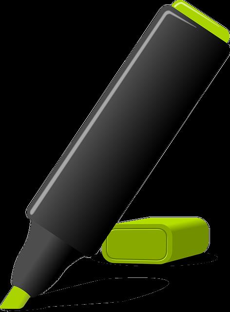 Highlighter, Marker, Pen, Felt-tip Pen, Cut Out