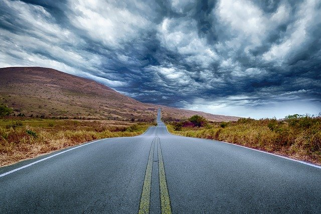 Road To Nowhere, Landscape, Travel, Highway, Trip