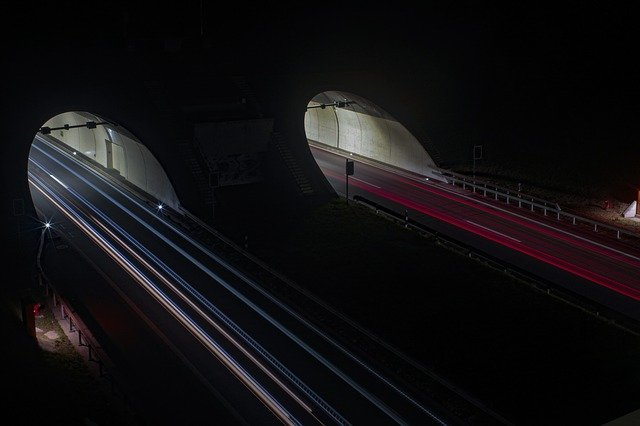 Road, Highway, Lights, Auto, Night, Speed