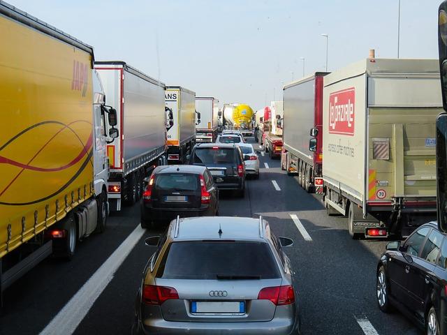 Traffic, Transport, Jam, Highway, Auto, Vehicles, Truck