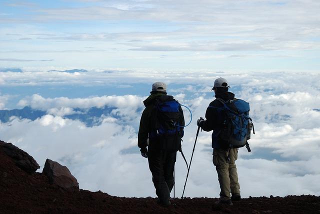 Top Mountain, Sky, Cloud, Rock, Blue Sky, Hike, Nature