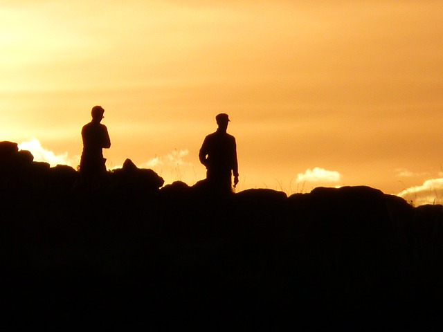 Human, Skyline, Back Light, Sunset, Hike, Personal, Men