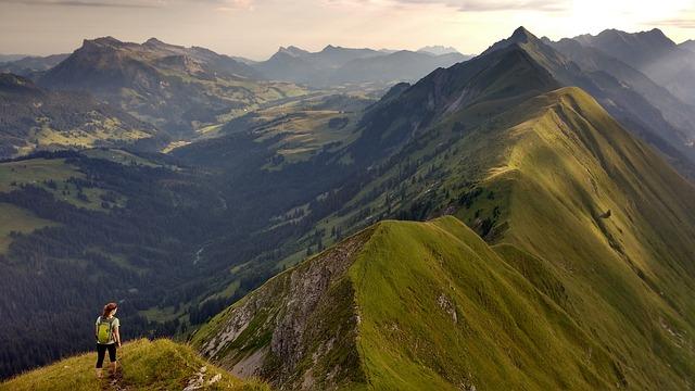 Ridge, Switzerland, Interlaken, Hike, Run, Outdoors