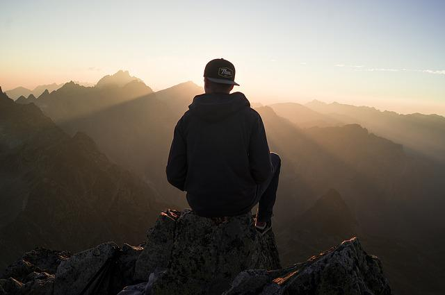 Chill, Guy, Hiker, Mountain, Mountain Range, Mountains
