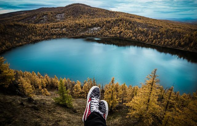 Travel, Lake, Feet, Resting, Hiking, Hiker, Outdoors