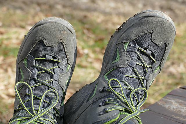 Nature, Shoes, Hiking, Lacing, Leather Shoes