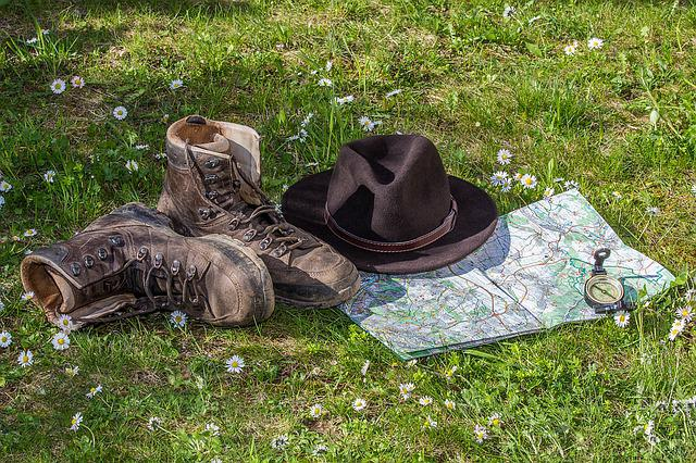 Hiking, Map, Orientation, Hiking Shoes, Shoes, Hat