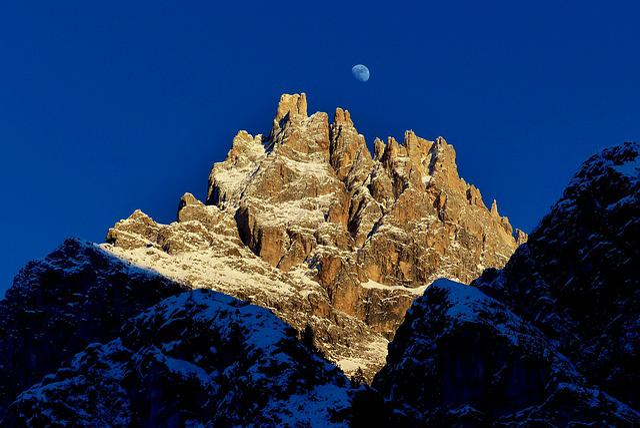Dolomites, South Tyrol, Hiking, Moon, Rock