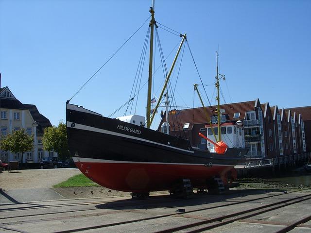 Hildegard, Ship, Husum, Port, Boat, Kahn