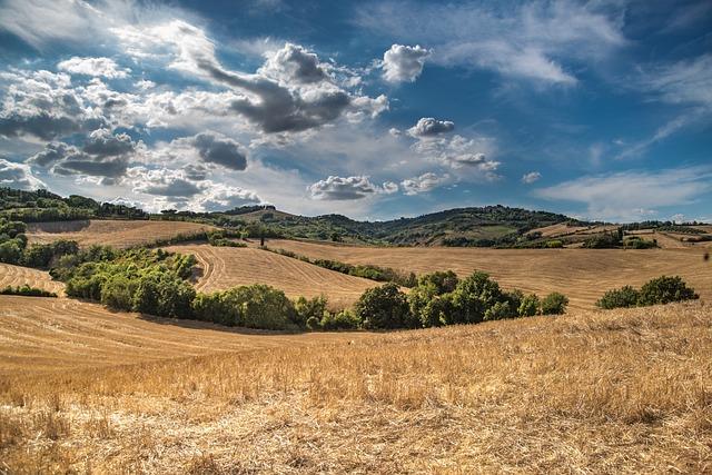 Hill, Blue Sky, Clouds, Sky, Blue, Nature, Green