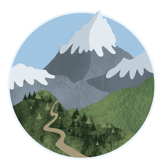 Mountain, Hill, Forest, Art, Procreate, Nature