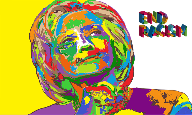 Hillary Clinton, End Racism, Colorful, Peaceful World
