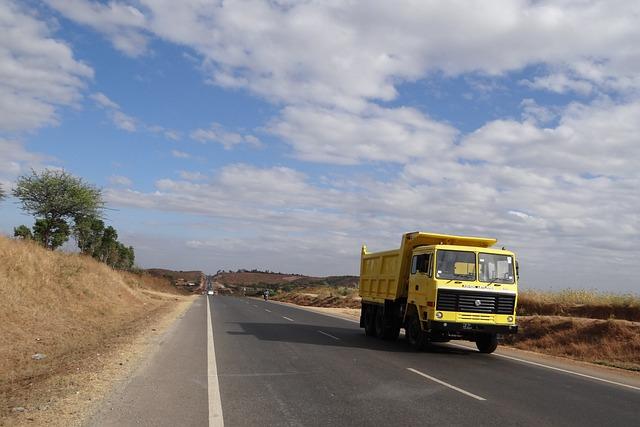 Highway, Road, Hills, Clouds, Dumper, India