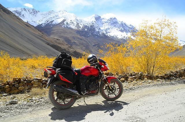 Spiti, Himachal Pradesh, India, Himalayas, Motorcycle
