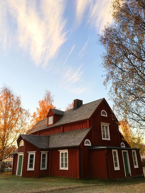 Skellefteå, Nordanå, Himmel, House, Roof, Sky Blue