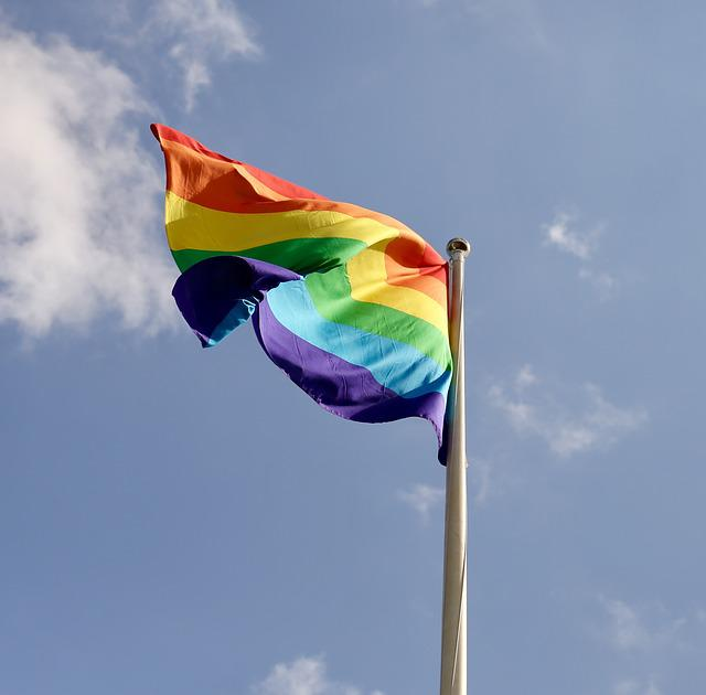 Flag, Pride, The Lgbt Movement, Stockholm, Himmel