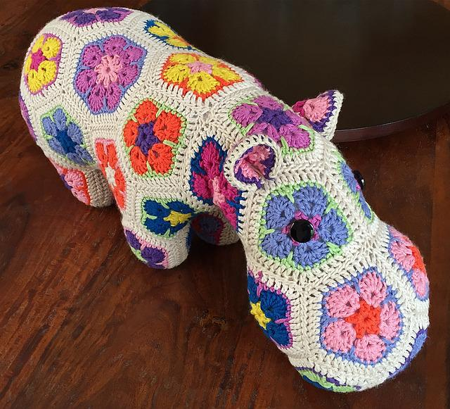 Happypotamus, Crochet, Hippopotamus