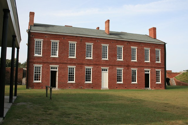 Building, Old, Historic, Fort Clinch, Brick
