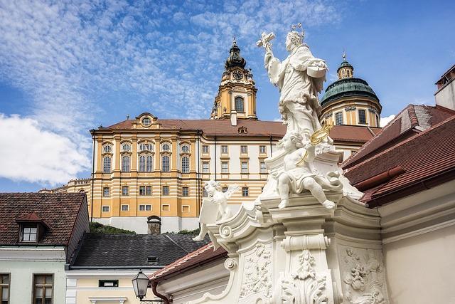 Melk, Austria, Monastery, Building, Baroque, Historic