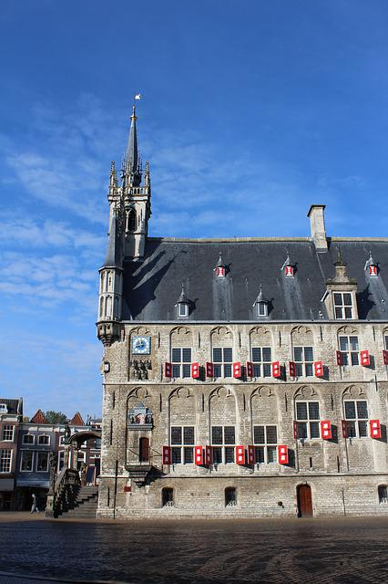 Town Hall, Gouda, Netherlands, Historic Building