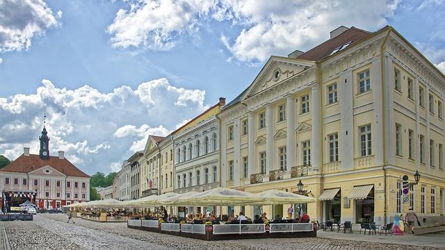 Estonia, Tartu, Town Hall Square, Historic Center