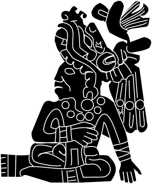 Aztec, Mexican, Mayan, Historic, Motif, Man, Figure