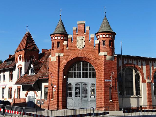 Market Hall, Bydgoszcz, Building, Historic, Portal