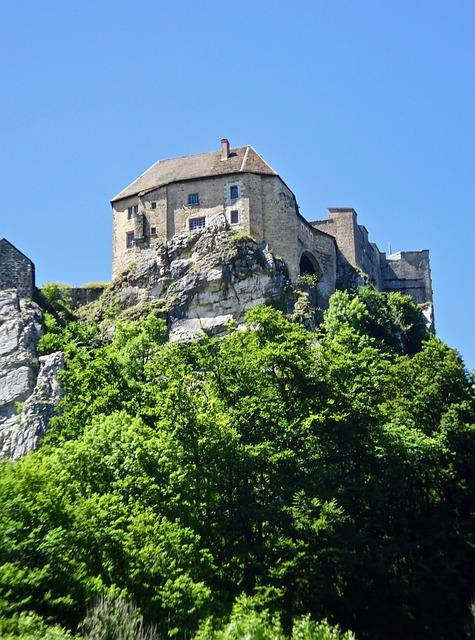 Castle, Peak, Medieval, Fortress, Aerial, Historic