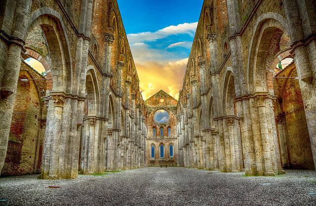 Abbey, Ruin, Architecture, Medieval, History, Historic
