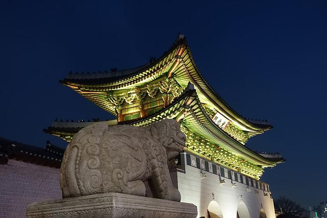 Gwanghwamun, Night View, Sejongno, Historic Sites